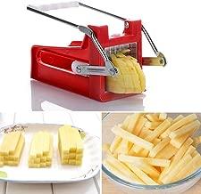 inoxydable Multipurpose Broyeur de pommes de terre frites trancheuse Coupe Frites machine /à Chopper 2/lames free size Red