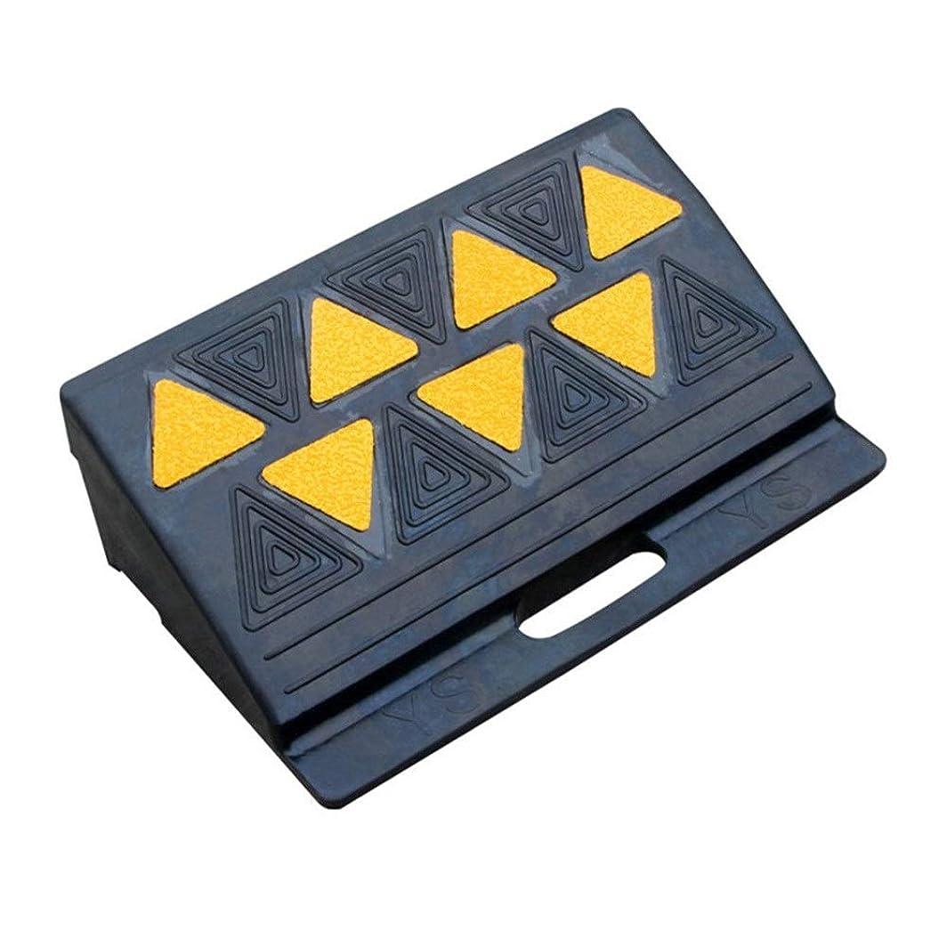 機動スリーブ複数段差 スロープ 道路輸送設備減速スロープスロープスロープ緩衝パッドに三角形ポータブルラダーマット車マットゴム 段差スロープ ゴム (色 : ブラック, サイズ : 50x30x11cm)