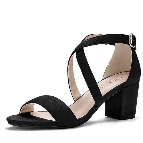 f497225f33 Allegra K Women's Crisscross Ankle Strap Block Heel Sandals