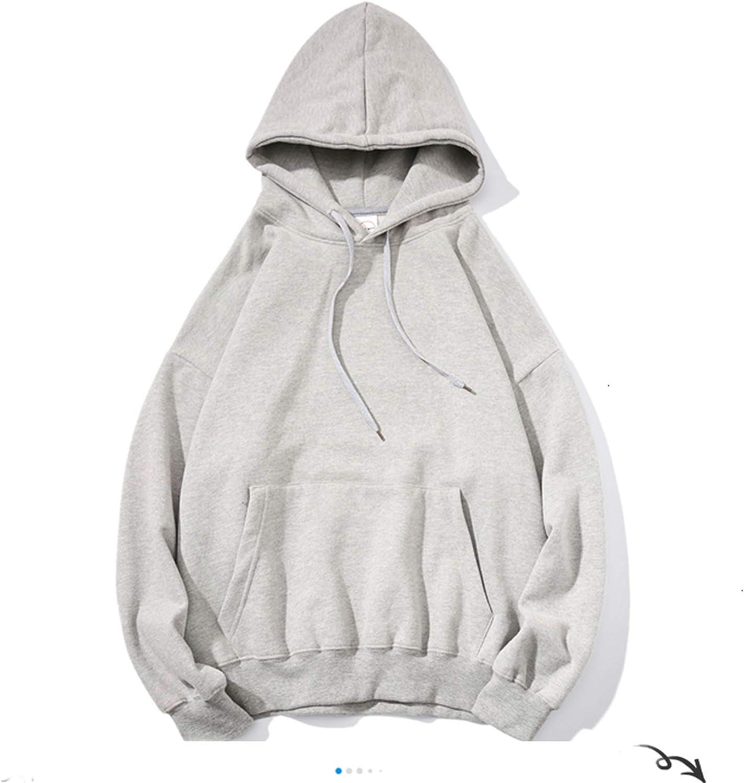 who-care Femme de Sweatshirts Solide 12 Couleurs Coréenne Femelle À Capuchon Pulls 2020 Coton Épaissir Chaud Surdimensionné Hoodies Femmes Gris Vert (Surdimensionné).
