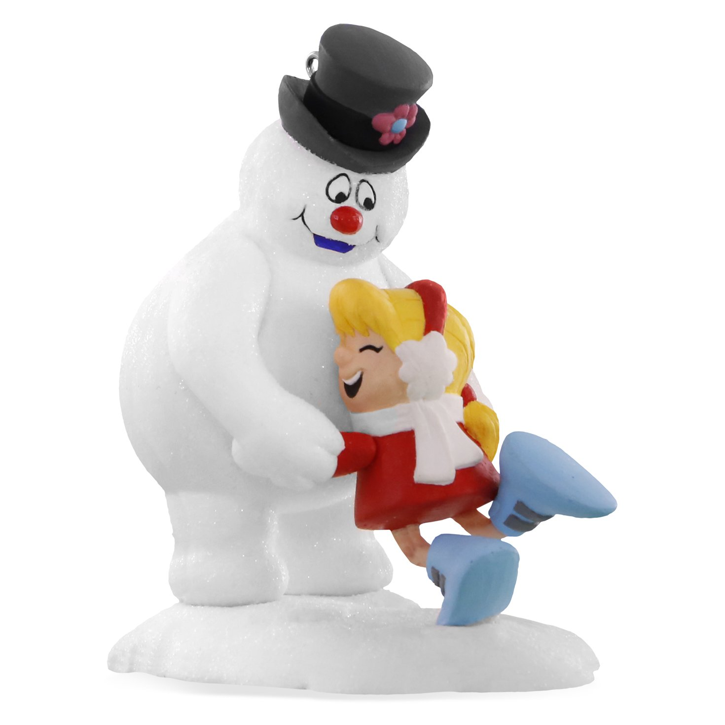 Image of Cute Karen Hugging Frosty the Snowman Ornament