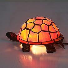LXDZXY Lampy Stołowe, Turtle Shaped Desk Lamp, Styl Witraż Lampa Stół, Przemysłowe Vintage Przyłóżkowy Lampki Nocne Lampy ...