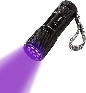 BIKUUL UV Torchlight, 9 LED light 395nm Ultraviolet Flashlight, Blacklight Detector for Pet Urine, Stain, Bed Bugs