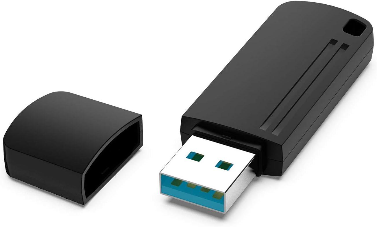 MC Os Linux Bleu KOOTION Cle USB 64 Go 3.0 USB Flash Drive 64 Giga Rapide USB Porte Cl/é Cles USB 3.0 64 GB USB Memory Stick 64gb Cle USB Clefs USB Port USB Rotation avec LED Portable pour Windows
