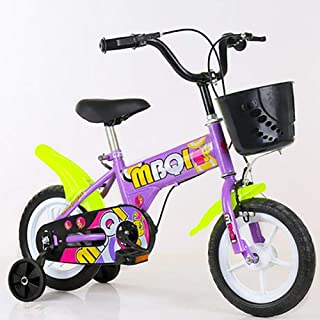 Nfudishpu Girls Bike,High-Carbon Steel with Training Wheels for 16 Inch Kids Bicycle, Child Pedal Bikes for 4-6 Years Old
