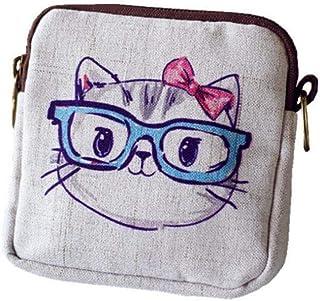 Piccola moneta borsa impermeabile titolari Canvas Zipper carta di credito della borsa multiuso per le donne Ragazze Access...