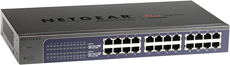 NETGEAR ProSafe Plus JGS524Ev2 - switch - 24 ports - unmanaged - desktop, rack-mountable