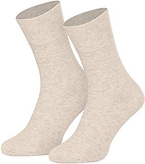 8 pares de calcetines de lino de algodón suave Natura para hombre/mujer/niños