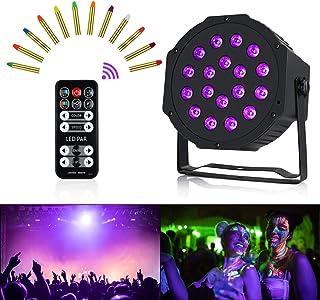 Anpro Luz UV de Escenario,54W,18 LEDS,5 Modos con Mando,Luces Discoteca de Escenario para DJ Club,Bar,Fiestas