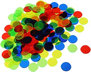 500 Pieces Transparent Plastic Counters - Great for Kindergarten Preschool Kids Toys Multicolor