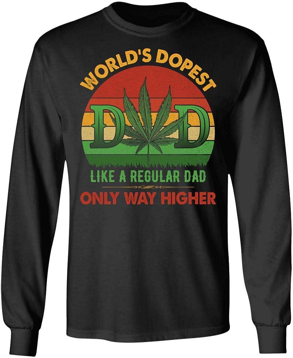 World's Dopest Dad Vintage 永遠の定番 Weed Retro - Funny Sweatshirt Hoodie 商店