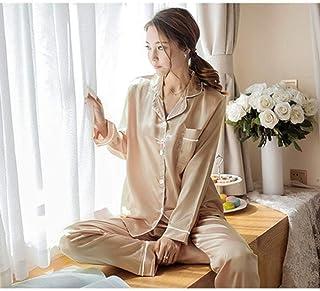 JKFS Pijamas de Mujer Conjunto de Pijama de Mujer Pijamas Pijamas para Mujer Pijamas Conjunto de Bata Pijamas de Manga Larga Pijamas para Mujer Servicio a Domicilio Servicio a Domicilio