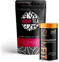 WOW TEA Premium Organic Teas Protein Rich Superfood Eliminates Bloating Curbs Appetite Faster Boosted Fat Burn Stronger Immunity Better Health 9 Superfoods in 1 Meal Replacement 150g Estimated Price : £ 34,00