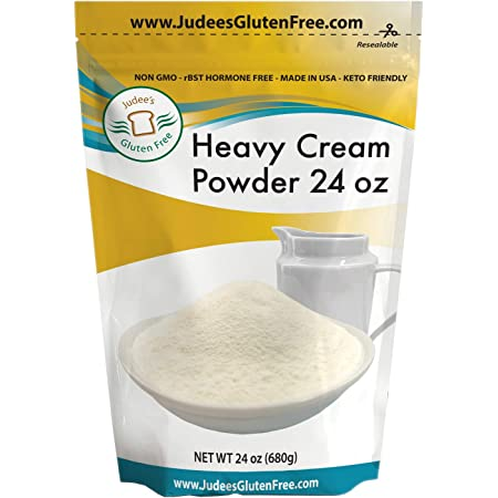 Judee's Heavy Cream Powder 1.5 lb (24 oz) - GMO and Preservative Free, Produced in the USA, Keto Friendly, Add Healthy Fat to Coffee, Freshness Locked in Package