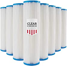 Clear Choice Sediment Filter Cartridge 10in X 2.50in Replacement for Pentek 155038, Watts FM-50-975, Whirlpool WHKF-WHPL, Dupont WFPFC3002, Liquatec SPF-25-1050, 8-Pk