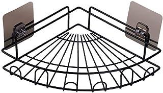 ZhanMa Porte Serviette Salle de Bain Salle de Bain d'angle étagère d'angle adhésif Douche Caddies Mural Salle de Bains Ran...