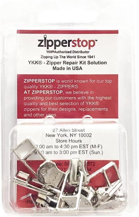 Color: Anti-loading, Size: 3# Maslin 10pcs 3# 5# Anti-loading Waterproof Zipper Sliders Reverse Installation for Invisible Nylon Zip Bag Jacket Zip Head Pull