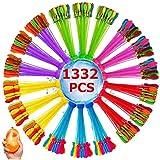 Hifinger 水風船 大量 1332個(37個*36束)水爆弾 60秒で一気に作れる ウォーターバルーン 水遊び玩具 夏祭り イベント用品 夏の日 水風船合戦 夏定番の遊び