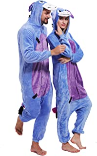 Adult Eeyore Donkey Onesies Cosplay Animal Pajamas Chrismas Homewear  Sleepwear Costume b23c92259