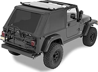 Bestop 56821-35 Black Diamond Trektop NX Complete Frameless Replacement Soft Top with Sunrider Sunroof Feature for 2004-2006 Wrangler Unlimited