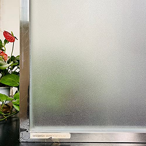 LMKJ Película de Vidrio Adhesiva de Color de película de Ventana de Vinilo de Vidrio Mate antiestático, Etiqueta de Ventana de protección de privacidad Opaca A42 50x200cm