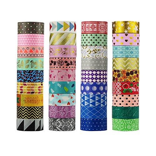 UOOOM 30er Set Beautiful Washi Tape Masking Tape deko klebeband buntes Klebebänder DIY scrapbook deko (30 x Patterns)