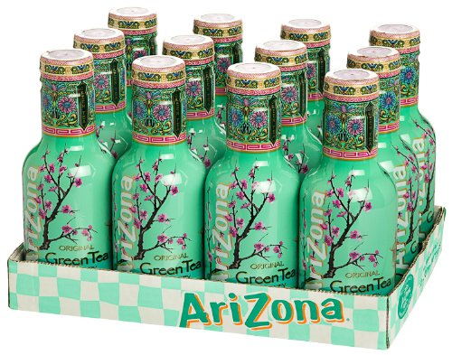 12 Flaschen Arizona Green Tea a 500ml PET inc. 3.00€ EINWEG Pfand