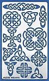 Aleks Melnyk #32 Plantilla Stencil de Metal para estarcir/Nudo Celta/para Arte Manualidades y decoración/Plantilla para Estarcidos/para Pintar con Aerógrafo/1 piezas/Bricolaje, DIY