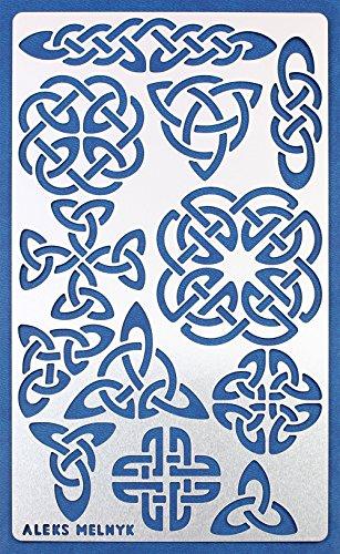 Aleks Melnyk #32 Schablone/Metall Stencil Vorlagen for Painting/Keltischer Knoten/1 Stück/DIY Kunst Projekte/Stencil für Scrapbooking und Zeichnen/Brandmalerei Schablone/Basteln