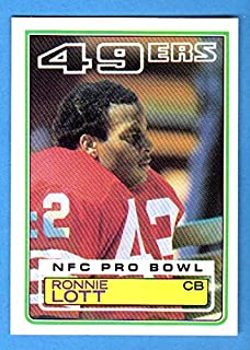 Ronnie Lott 1983 Topps Football **Hall of Famer** (2nd Year Card) (49ers) (Raiders)