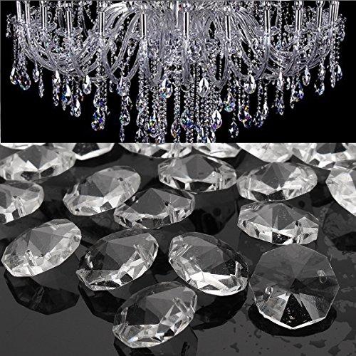 Masunn 50st helder glas kristallen kroonluchter hanglamp prisma-onderdelen hangende druppels 18mm