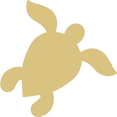 Sea Turtle Cutout Unfinished Nautical Decor Summer Ocean Beach MDF Shape Canvas Style 1
