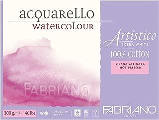 Fabriano Artistico Watercolor Extra White Block 9