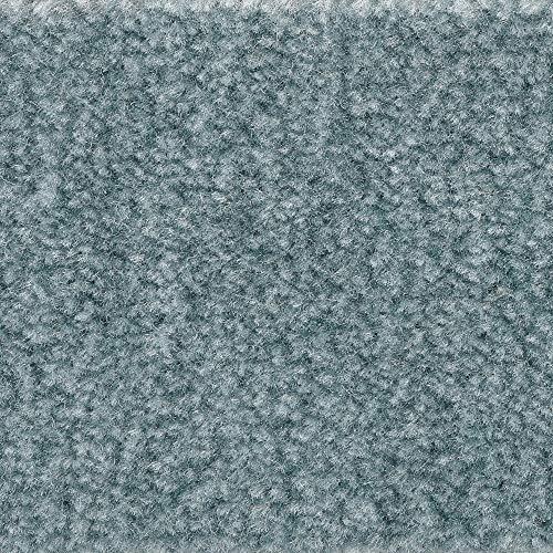 Teppichboden Auslegware | Velours gemustert | 400 und 500 cm Breite | hell-blau | Meterware, verschiedene Größen | Größe: 1,5 x 4m