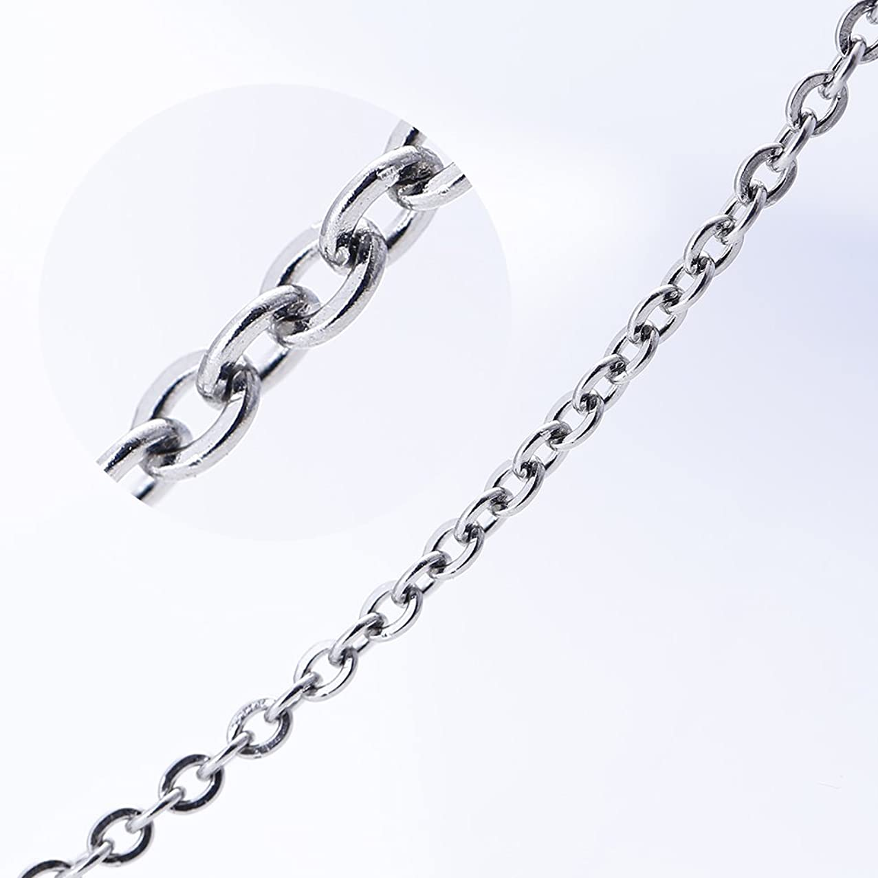 Bingcute 15ft Stainless Steel Cable Chain Link For Necklace Jewelry Making 2.5x3mm
