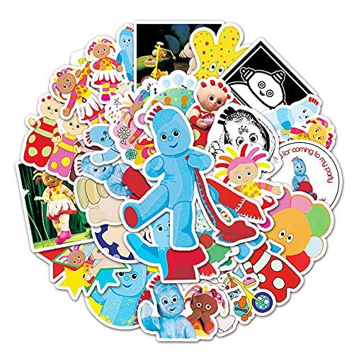 STKCST Dibujos Animados de Anime en el jardín la Noche Paquete Pegatinas Bricolaje Cuaderno Creativo Etiqueta Adhesiva Decoración Maleta Pegatinas Coche Impermeable Colorido Lindo Estético Vinilo