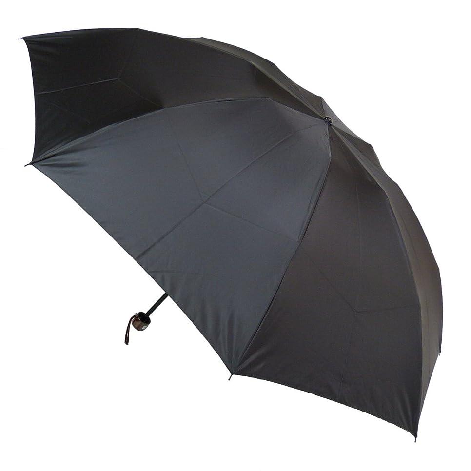 洞察力件名立証する超撥水メンズ三段式折りたたみ雨傘:通勤快滴60ミニ(Advanced Edition) ブラック