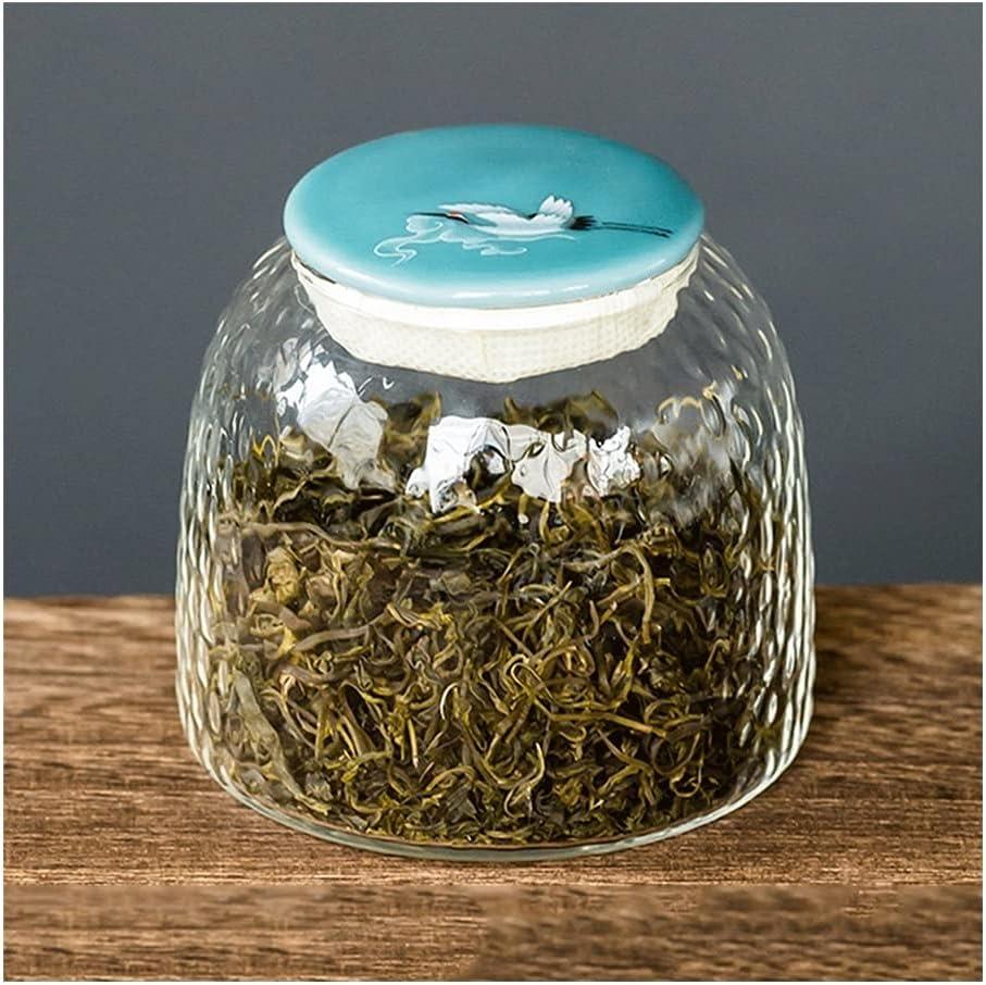 YHYH Jars Mini Hammered Reservation Glass Tea Stora Mouth Wide Food Our shop most popular Canister