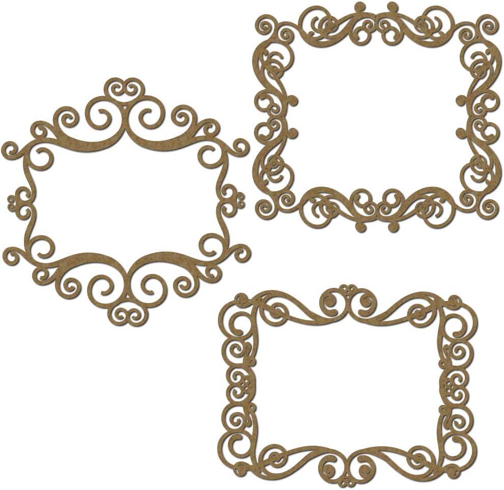 Rectangle Flourish Frames Scrapbook Embellishments | Laser Cut C