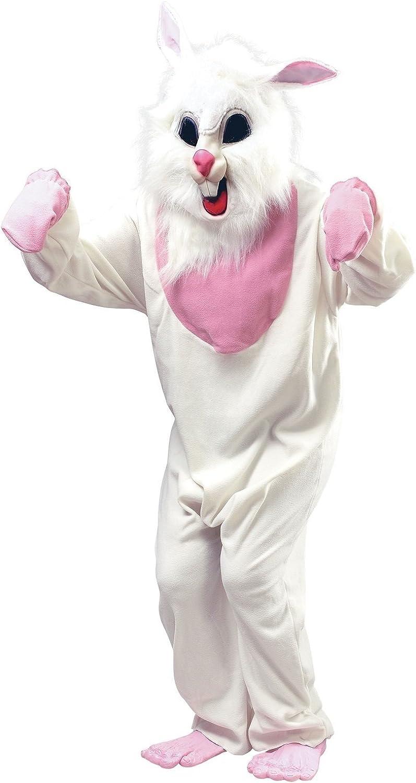 Mens Ladies Evil Weiß Killer Easter Rabbid Rabbit Bunny Halloween Fancy Dress Costume Outfit (One Größe)