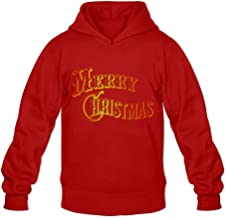 Merry Christmas Red And Orange Color Very O-Neck Long Sleeve Hoodies For Mens
