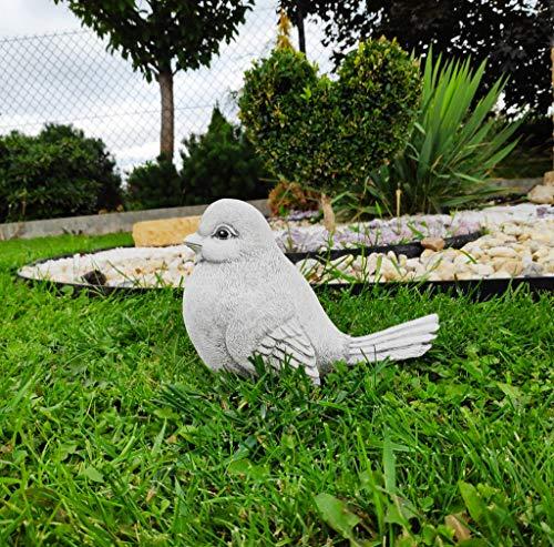 Green Lane Garden Figura de Piedra fundida Figura de Adorno de jardín de pájaros - Gorrión Mágico