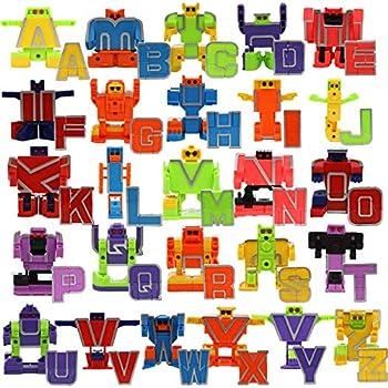 IQ Toys ABC Robot Set Includes 26 Pieces Transform ABCs to Robots