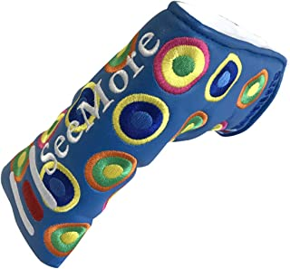 SeeMore New Groovy Blue Magnetic Blade Putter Headcover