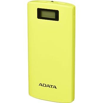 ADATA Powerbank Batería Portatil Color Amarillo 20000 mAh con Pantalla Digital (Modelo P20000D)