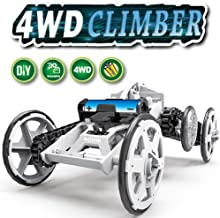 NOIHK STEM Toy 4WD Car Assembly Kit,Four-Wheel Drive DIY Climbing Vehicle, Circuit Building Projects for Kids and Teens | DIY Science Experiments & Circuit Building Projects Using Real Motors