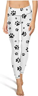 Voslin Fashion Cute Doggy Puppy Blue Pattern Womens high Waisted Yoga Pants Workout Leggings