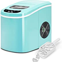 JFGUOYA Ice Maker, Portable Countertop Ice Maker Machine, 33 Lbs Ice in 24 Hours, 9 Cubes Ready in 6 Minutes, Home Mini Ice Machine with Ice Scoop and Basket, for Parties Mixed Drinks