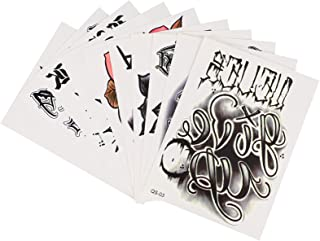 Beaupretty 10Pcs Tijdelijke Tattoo Stickers Verwijderbare Tattoo Decal Halloween Cosplay Kostuum Nep Tatoeages Voor Hallow...