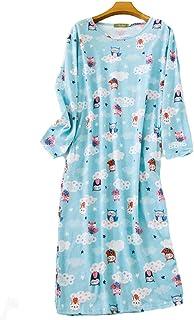 Camisones de Mujer Tallas Grandes Vestido Manga Casual Vestido Largo Suelto Albornoces Pijamas Pijamas de una Pieza,Camisones para Mujer